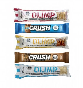Zestaw 5 batonów Olimp Protein Bar i Biotech USA Crush Bar